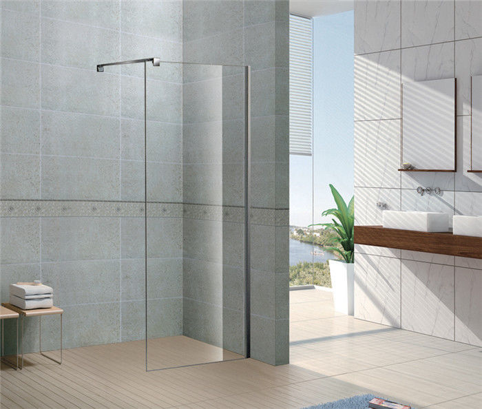 Clear Forsted Tempered Glass Shower Doors 6 8 Mm Ce Certification Stainless Steel