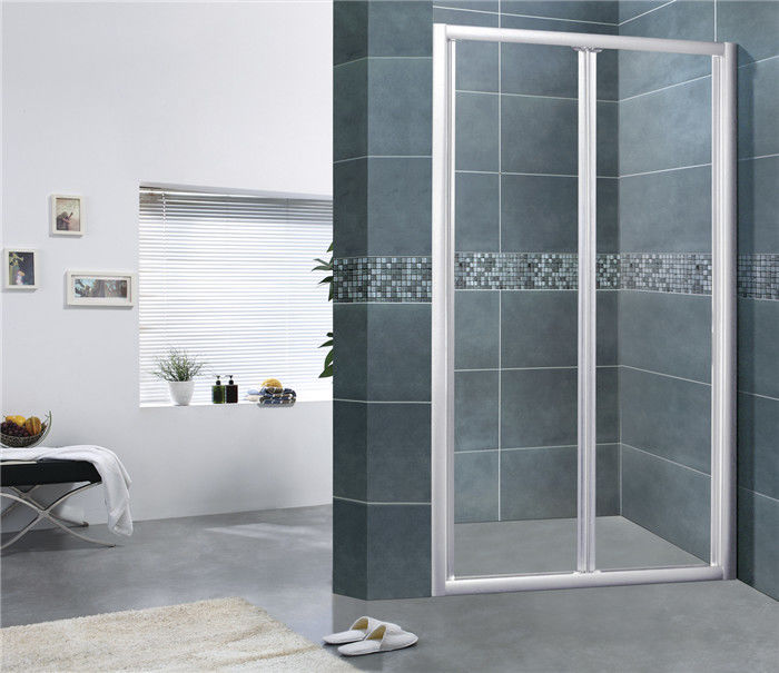 Folding Glass Shower Screen / Steam Shower Enclosure Aluminum Alloy For House