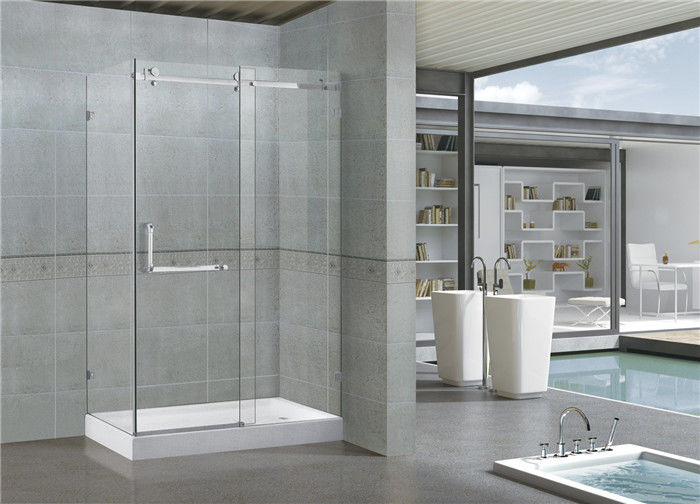 Mirror Color Tempered Glass Frameless Shower Enclosures With Stainless Steel Accessories