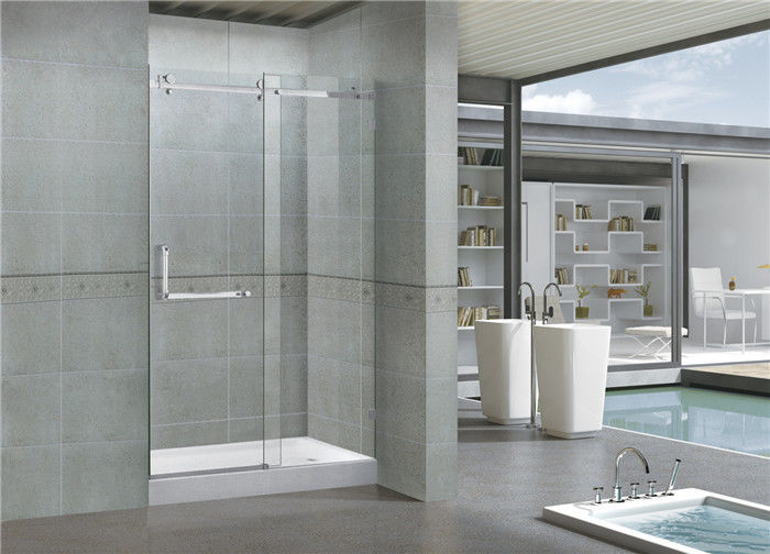 8mm Self Cleaning Frameless Glass Shower Doors With Stainless