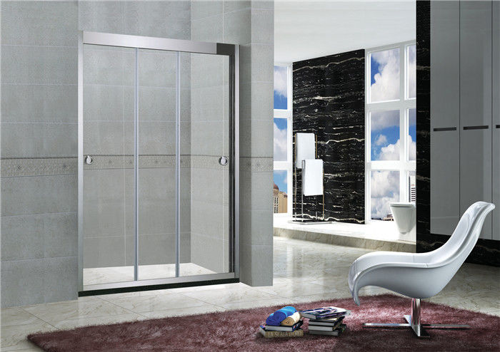 8MM / 10MM Stainless Steel Frameless Sliding Shower Doors With Artificial Stone Tray