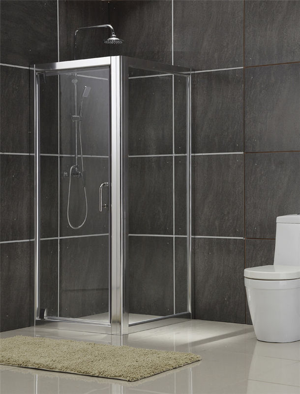 Brushed Rectangular Shower Enclosure 6MM Tempered Glass for Philippines