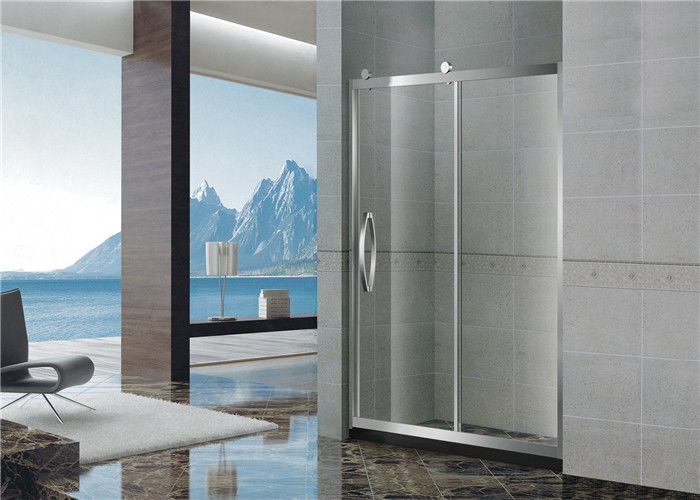 Big Wheels Glass Shower Screen / Single Moving Bath Shower Enclosures For Home