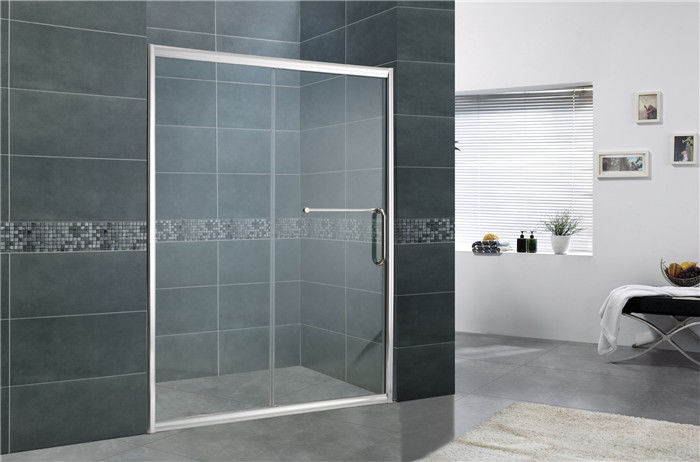 Aluminum Alloy Bathroom Shower Screens Tempered Glass Moving Door for Home / Hotel