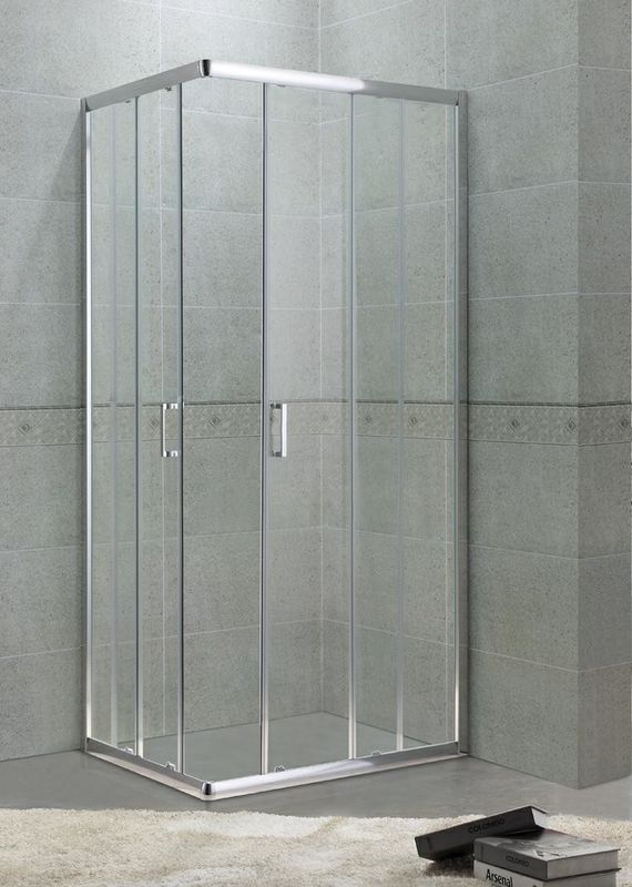 6 mm Glass Square Shower Enclosure with Aluminum Frame and Zinc Handle