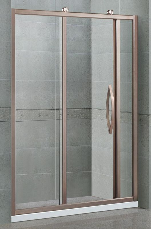 Straight Sliding Single Shower Screen Two Irregular Fixed With Octagonal Wheel