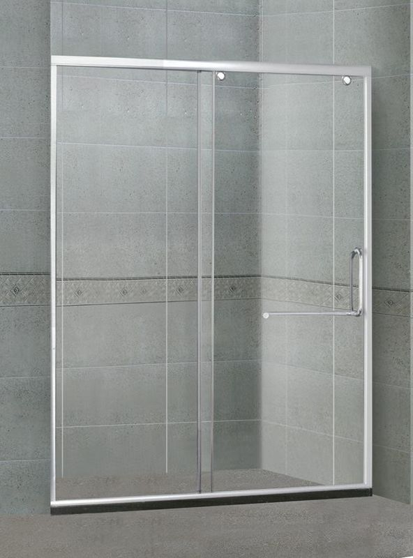 One Sliding Glass Shower Screen Tempered Glass Corner Quadrant Shower Enclosure
