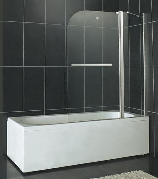SGCC Certification Pivot Shower Enclosure 6MM Tempered Glass With One Fixed Panel