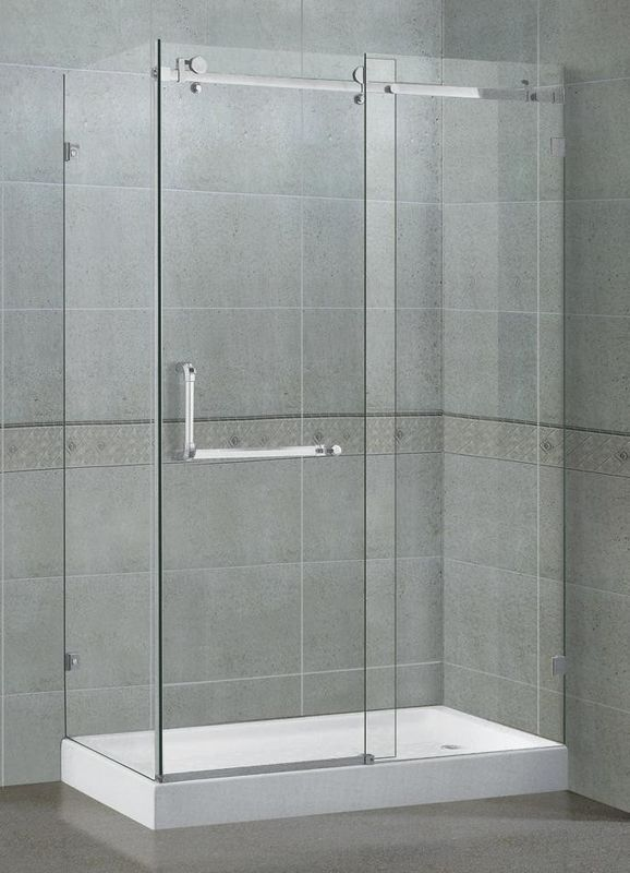 Frameless Rectangular Shower Enclosure 8 / 10 MM Self - Cleaning CE Certification
