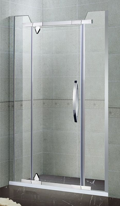 Swing Two Fixed Glass Shower Enclosures Stainless Steel Handle and Pivot  for Apartment /  Hotel