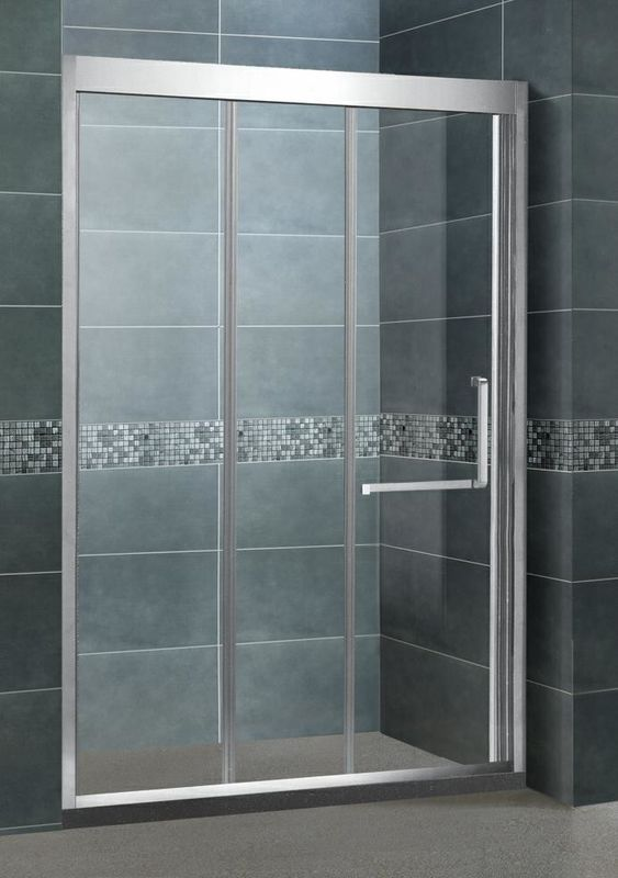 Inline Stainless Steel Glass Shower Screens Two Sliding Door 8 MM CE / SGCC Certification