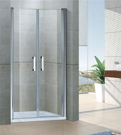China Sand Silver Inline Pivot Shower Doors 6 MM Tempered Glass With Aluminum Frame factory