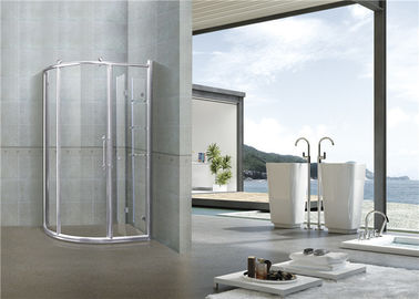 6 MM Chromed Profiles Shower Cabins Copper Rollers With Shower Shelf Sliding Moving Door