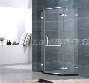 Diamond Shape Frameless Shower Enclosures Stainless Steel Mirror Color For Hotel