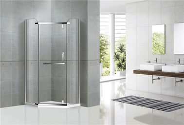 China Diamond Shape Stainless Steel Pivot Glass Shower Door Nano Tempered Glass For Hotel factory