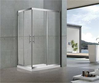 Rectangle Corner Enter Shower Screen Sliding Stainless Steel  8 / 10 mm Tempered Glass