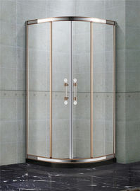 Rose Gold Stainless Steel Quadrant Shower Enclosures With Two Center Pillar