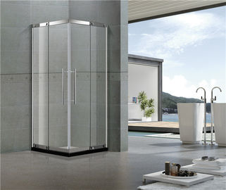 Corner Enter Stainless Steel Shower Enclosure with Outside Fixed Glass 8 / 10 MM Tempered Glass