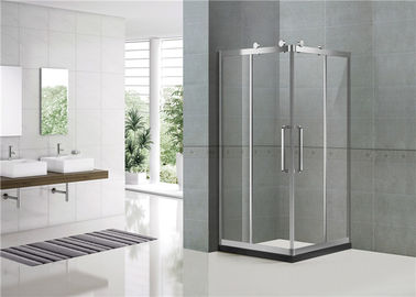Big Wheels Square Shower Enclosure 10MM Self - Cleaning Double Sliding Shower Enclosure