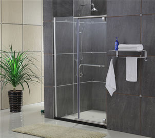 China Sliding Screen Pivot Shower Doors Self - Cleaning Glass With F Shape Handle factory