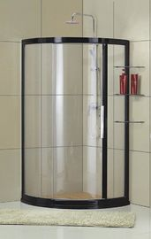 Quadrant D Shaped Shower Enclosure Frosted Tempered Glass With Shelf Outside