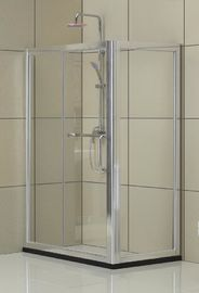 Self - Cleaning Square Shower Enclosure Aluminum Alloy Matte Silver 6MM Tempered Glass
