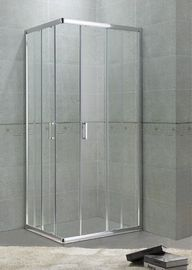 Corner Sliding Bath Shower Enclosures 6MM Glass With Square Zinc Alloy Handle