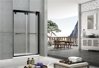 Sand Black Inline Double Sliding Glass Shower Screen Aluminum Alloy  CE Certification