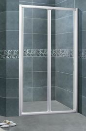 Silver Aluminum Alloy Glass Shower Enclosures 5MM Clear Tempered CSI Certification