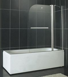 China SGCC Certification Pivot Shower Enclosure 6MM Tempered Glass With One Fixed Panel factory