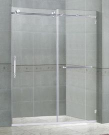 10MM Clear Tempered Sliding Glass Shower Doors Easy Installation SGCC Certification