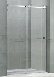 Nano Clear Tempered Glass Shower Screens With Big Hanging Rollers for Home / Hotel