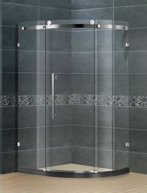 Professional Offset Quadrant Shower Enclosure With Stainless Steel Big Roller
