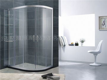 Brushed Aluminum Alloy D Shaped Quadrant Shower Enclosure Movable Shelf