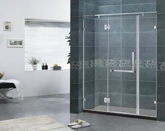 Customized Frameless Hinged Shower Door 6MM Clear Glass With 180 Degree Stainless Hinge