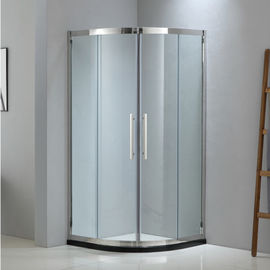 Sector shining stainless steel shower enclosure 900*900 with two sliding doors and two fixed panels.