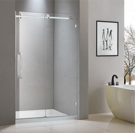 Stainless steel shower enclosure 1200*2000 with one sliding door and one fixed panel