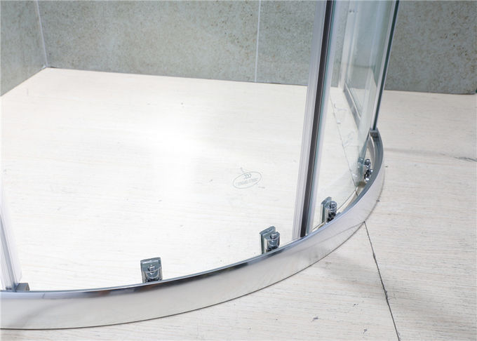 Sliding 6mm Clear Glass Quadrant Shower Enclosures with Bright Aluminum Alloy Profiles
