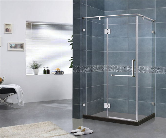 Square Three Sides Frameless Hinged Shower Door With 10MM Tempered Glass